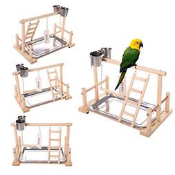 QBLEEV Bird's Stand Playground Climb Wooden Perches )