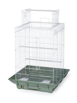 Bird Supplies Clean Life Play Top Bird Cage - Green & White