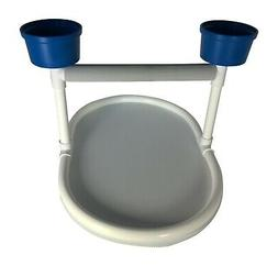 FeatherSmart Large Bird Table Top Stand w/Cups