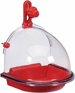 Bird Water Bath Tub For Pet Birds Cage Hanging Accessory Bow