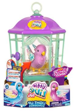 Little Live Pets Bird with Cage Rainbow Glow Light Up Wings