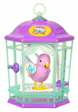 Bird Little Live Pets with Purple Cage~Blue Parakeet Toy~Sin