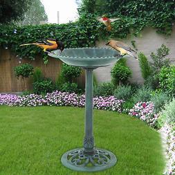 "28""  Height Pedestal Bird Bath  Outdoor Garden Decor Vintage"