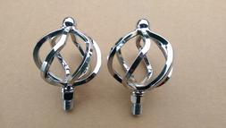 """LOWRIDER BIRDCAGE 1/2"""" PEDALS, IN CHROME, FOR SHOW, FITS ONE"""