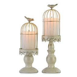 Birdcage Candle Holder, Vintage Candle Stick Holders, Weddin