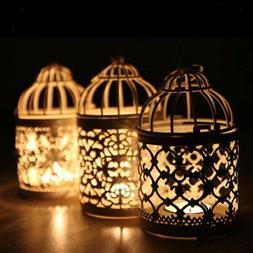 Birdcage Iron Candle Holder Retro Hollow Decorative Candlest