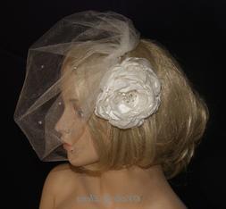 Birdcage Wedding Veil Weddng Veil Blusher Veil Crystals 29 C