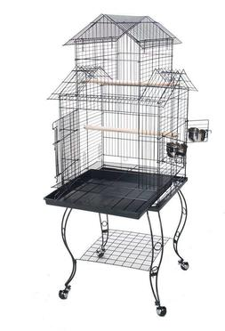 Birdcage with Stand Parakeet Finch Metal Grate Indoor Bird C