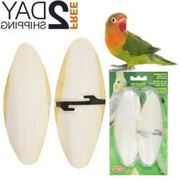 Birds Large Cuttlebone Twin Pack FOR CAGE natural chew calci