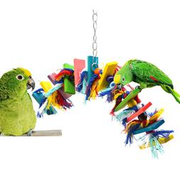 Birds Parrot Toy Swing Chewing Playground Gym Macaw Cockatoo