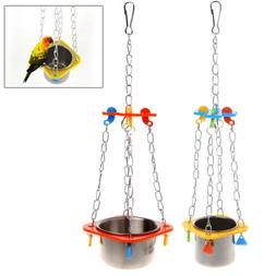 Birds Parrots Hanging Feed Bowl Swing Cage Toys For Parakeet