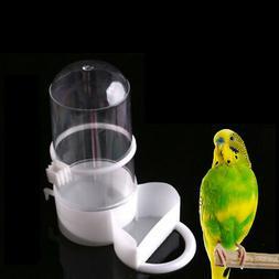 birds pet drinker feeder automatic food waterer clips aviary
