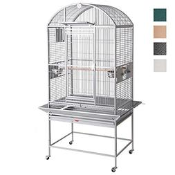 HQ Dome Top Parrot Cage, 24 by 22 by 60-Inch Height, Platinu