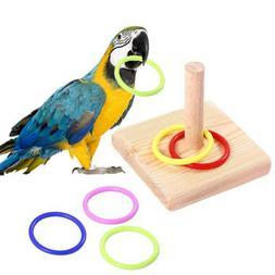 Bite Toys Plastic Ring Intelligence Training Wooden Bird Che