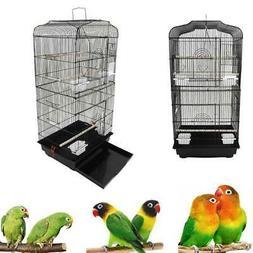 """Black 37"""" Bird Parrot Cage Canary Parakeet Cockatiel Bird Fi"""