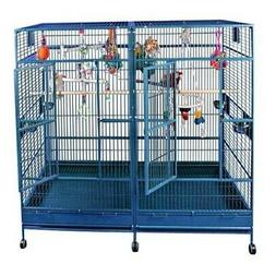 "Double Macaw Bird Cage Black With Divider  Shelf Size 80"" x"