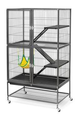 Prevue Hendryx Black Feisty Ferret Cage 31-Inch long, 20-inc