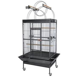 "Black Vein Bird Cage: 40""x31""x89"" with Non-Toxic Epoxy Ladde"