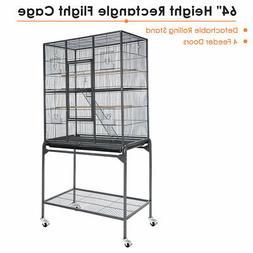 "63"" Large Parrot Bird Cockatiel Parakeet Finch Cage Gym Perc"