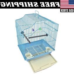 SMALL Bird Cage Kit Starter Set Perches Swing Feeders Scallo
