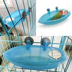 Blue Small Parrot Bird Bathtub Pet Cage Accessories Bird Mir