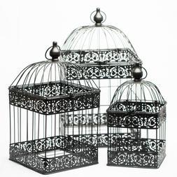 Richland Bodie Bird Cage - Black Set of 3 Wedding Vintage In