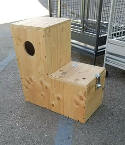 Boot Nest Box  for Parrot, Amazon, African Grey, Mini Macaw