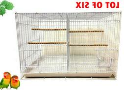Lot of 6 Breeding Aviary Canary Budgie Finch Bird Cages 24x1