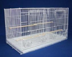 YML Small Breeding Cages with Divider, White
