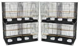 YML Medium Breeding Cages with Divider, Lot of 4, Antique Si