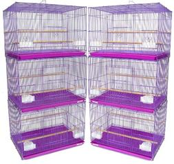 YML Small Breeding Cages, Lot of 6, Purple