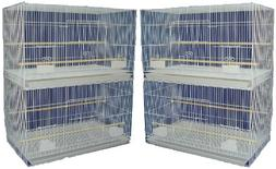 YML Medium Breeding Cages, Lot of 4, White