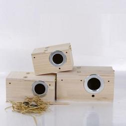 Breeding Wooden Nest Box Nesting Roost Bird Canary Finch Bud