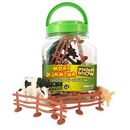 Boley Small Bucket Farm Animal Toys - 40 piece farm animal t