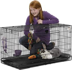 Bunny Cage Indoor Best Rabbit Cages Kennel Folding Front Top