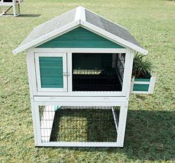 Petsfit 42.5 x 30 x 46 inches Bunny Cages, Rabbit Hutch Outd