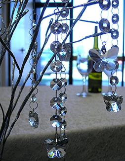 Butterfly Crystal Ornament Strands - Set of 6 Hanging Prism