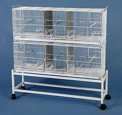 Extra Large CAMBO 2 of Bird Finch Canary Breeder Cages Divid
