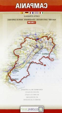 Campania, Italy - Road Map - 1:250,000