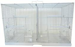 YML 3/8-Inch Canary Finch Breeding Cage 2414, Small, White