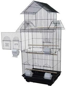 "Canary Parakeet Cockatiel LoveBird Finch Bird Cage -- 18"" Le"