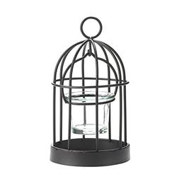 Candle Holder Bird Cage, Mini Rustic Bird Cage Candle Holder