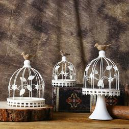 Candle Holder Classic Creative Decorations Iron Birdcage Des