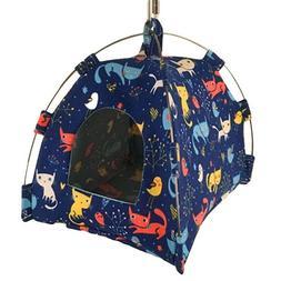 Cartoon Parrot Cat Hut Pet Cage Snuggle Tent Hammock Bird Be