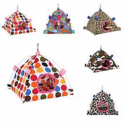 Cartoon Parrot Happy Hut Pet Cage Hideaway Tent Hammock Bird