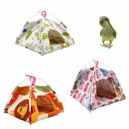 Cartoon Parrot Happy Hut Pet Cage Snuggle Tent Hammock Bird