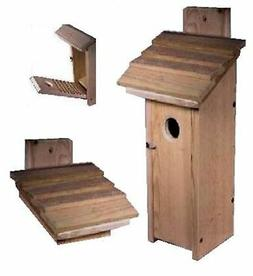 Ark Workshop cedar Downy WOODPECKER house titmouse chickadee