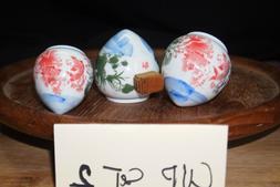 Ceramic bamboo bird cage cup/bowl/feeder set 2