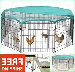 Chicken Kennel Outdoor Duck Coop Exercise Pen Rabbit Cage Pe