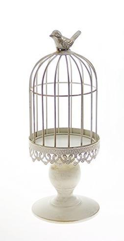 "12.6"" TALL Vintage Bird Cage Candle Holder, Fit 4.3"" Diamete"
